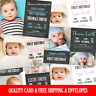 Personalised Photo First Birthday Invitations 1st Boy Girl Quality Card Invites