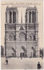 Antique Postcard Notre Dame Cathedral Facade Paris France A7