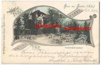 AK Postkarte Gruss aus Lauban Lubań Steinberg Restaurant Gasthof Schlesien 1903