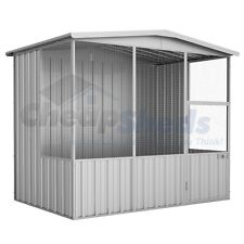 Absco Gable Roof Aviary 2.3m x 1.5m Zincalume Coop 30 Yr Warranty