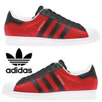 Adidas Originals Superstar Sneakers Men's Casual Shoes Running Black Red Yellow