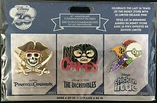 DISNEY STORE 30TH ANNIVERSARY EXCLUSIVE PIN WEEK 6 SET PIRATES OF THE CARIBBEAN