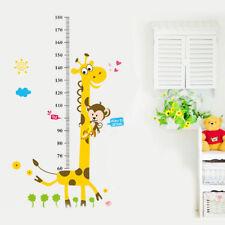Girafe Singe Tree Enfants Hauteur Mesure Sticker Tableau Croissance Mural Mode