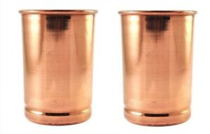 100% Copper Drinking Water Glass Tumbler Cup Mug For Ayurveda Health Benefits 2