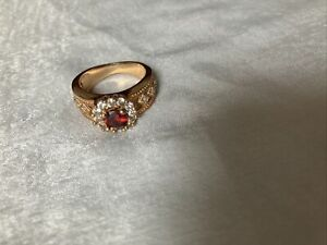 Gold Looking Ring With Cz Stones