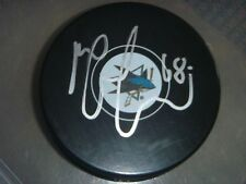 Melker Karlsson San Jose Sharks Signed/Auto Puck  COA