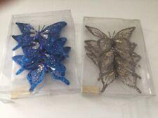 Farfalla Clip Decorazione Casa/Arredamento Blue & Micro - 8 x farfalla fatti a mano BN