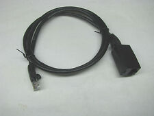 YAESU ICOM KENWOOD BLACK MICROPHONE EXTENSION CABLE 8 PIN RJ45 MODULAR 3 feet