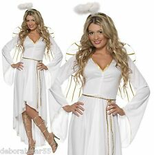 Womens Angel Christmas Fancy Dress Costume White Halo Festive Smiffys 36977 S - Small