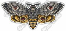 """Butterfly Bee Wasp Skull Insect Wing Flying Car Bumper Vinyl Sticker Decal 6""""X3"""""""