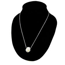 Charm Braid Knot Ball Slide 925 Silver Plated Necklace Women Wedding Jewelry NEW