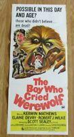 THE BOY WHO CRIED WEREWOLF ORIGINAL 1973 CINEMA DAYBILL MOVIE FILM POSTER RARE