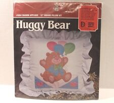 """Designs For The Needle 6004 Huggy Bear Shadow Applique 12"""" Square Pillow Kit NEW"""
