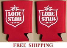 Lone Star Texas Brewery 2 Beer Can Coolers Koozie Coolie Huggie Coozie New