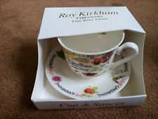 More details for roy kirkham  bone china english breakfast tea cup & saucer