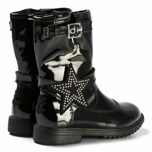 LELLI KELLY MARION GIRL INFANT JUNIOR YOUTH NAVY BLACK PATENT LEATHER ANKLE BOOT