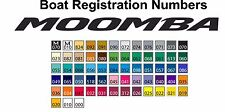 Moomba Boat Registration Numbers