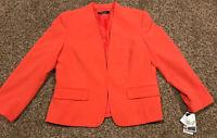 Nine West Womens Size 10 Stretch Salmon Pink NWT Dress Blazer A34