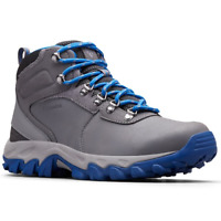 Columbia Men's Newton Ridge Plus II Waterproof Hiking Boot Shoe Grey and Blue