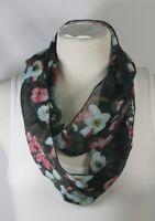 Infinity scarf, 100% silk,polka dots or floral print,blue,purple,orange,handmade