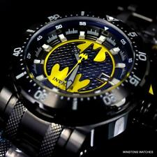 Invicta DC Batman Coalition Forces Black Steel Bracelet 52mm Automatic Watch New