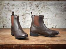 Dublin Elevation Zip Front Childs Jodhpur Boots Brown