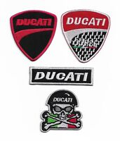 DUCATI  Motor logo Badge Iron On/Sew On Patch Embroidered