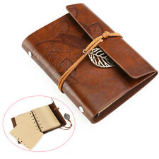 Retro Vintage Small PU Leather Blank Pages Notebook Note Travel Journal Diary