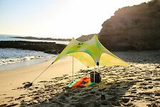 Neso Beach Tent with Sand Anchor, Portable Canopy for Shade -Citron Fronds - New