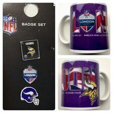Minnesota Vikings NFL American Football London International Series Mug & 3 Pins