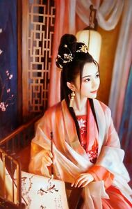 Original Oil Painting On Canvas - People - Chinese Classic Beauty
