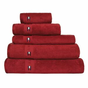 Tommy Hilfiger Handtuch Legend Uni Red 50x100 cm