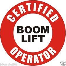 CERTIFIED BOOM LIFT OPERATOR HELMET STICKER HARD HAT STICKER