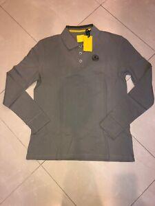 Lotus Apparel Gray Mens Long Sleeve Poloshirt Size Med NWT