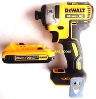 """NEW Dewalt DCF887 Brushless 20V Cordless 1/4"""" Impact, (1) DCB203 Battery 20 Volt"""