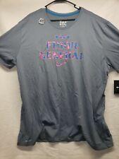Nwt Men's Nike Drifit LeBron James Basketball Gray/Blue T-shirt Size 3Xl