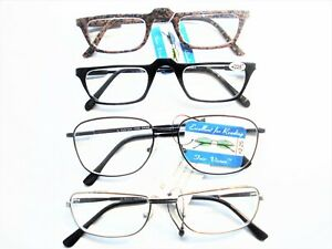 4 New READING GLASSES  +2.25  Men's Variety fashion Frames Quality and comfort