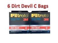 Dirt Devil Type C Deluxe Vacuum Bags (6-Pack), 3700148001