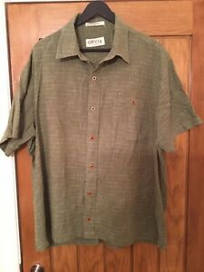 ORVIS Brown Hemp/Cotton Check SS Shirt XXL