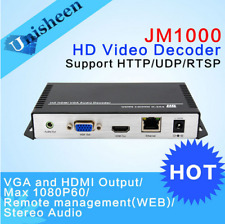 New listing H.264 Hdmi & Vga Video Decoder -Ht*P Rtsp Udp stream receiver from video Decoder