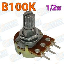 Potenciometro lineal B100K 100K 15mm 0,25w - Lote 1 unidad - Arduino Electronica