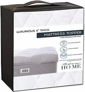 Mattress Topper 4 Inch / 10cm Thick Hotel Quality Extra Soft Mattress Protector