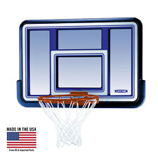 Basketball Hoop Backboard and Rim Net Goal 44 inch Outdoor Court Shatterproof