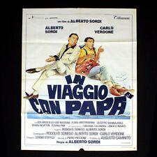 IN VIAGGIO CON PAPà manifesto poster Carlo Verdone Alberto Sordi Mare Barca C61