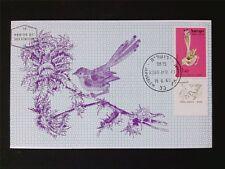 ISRAEL MK 1963 BIRDS STREIFEN-PRIENE VÖGEL MAXIMUMKARTE MAXIMUM CARD MC CM c5607