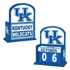 University of Kentucky Wildcats UK Perpetual Desk Office Wood Calendar