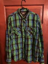 VANS Green/Blue Flannel Size XL