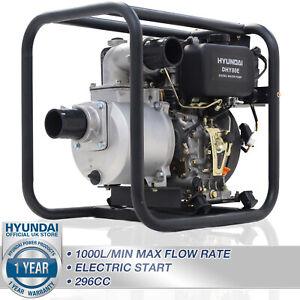 "🔵Diesel Water Pump Electric Start Commercial 3"" 80mm 60,000 L/HR Hyundai 🔵"