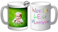 Personalised Worlds Best Mummy Mug Cup Gift. Can add Your Name & Own Text-IL1003