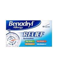 BENADRYL Allergy Relief Acrivastine 2 X 12 Capsules